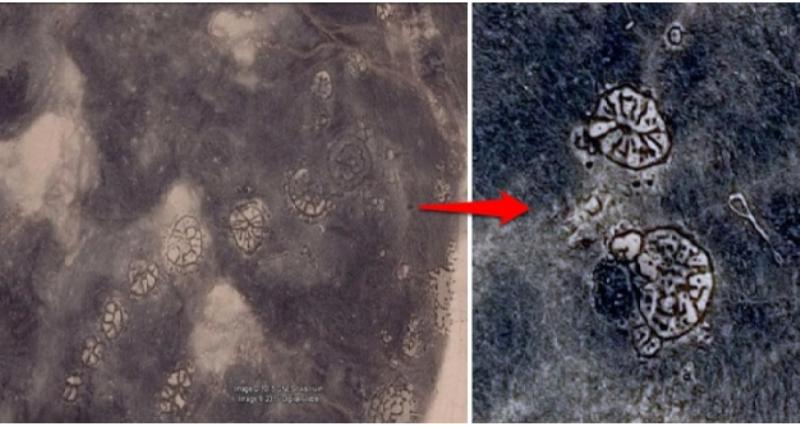 Những hình khắc bánh xe bí ẩn ở Jordan: 8.500 năm tuổi và chỉ có thể quan sát từ trên không