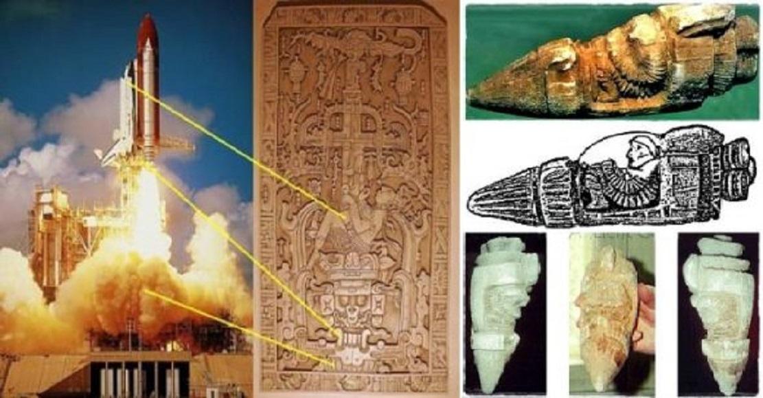 Công nghệ hàng không thời cổ đại: Phát hiện vô số cổ vật 'tàu vũ trụ' và 'phi hành gia'